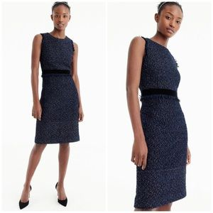 J Crew Blue Sparkle Tweed Dress